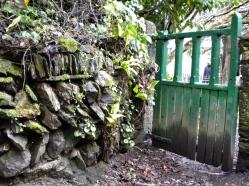 Dettagli di un sentiero pubblico (Public footpath), che attraversa il giardino di 'Garden House ' - Buckland Monachorum - Conovaglia maggio 2014