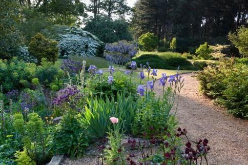 full191 June summer country garden Owner: Bernard Tickner Fullers Mill, West Stow, Suffolk UK Marcus Harpur