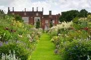 helmm419 Summer large country garden June July Xa, Lady Tollemache Helmingham Hall, Suffolk UK Marcus Harpur
